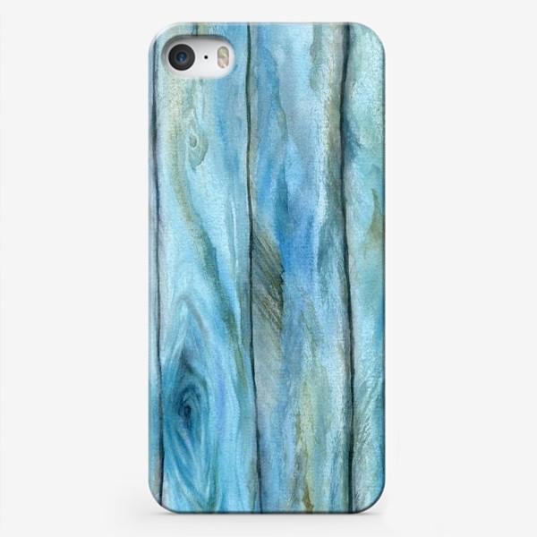 Чехол iPhone «Старое дерево. Голубое»