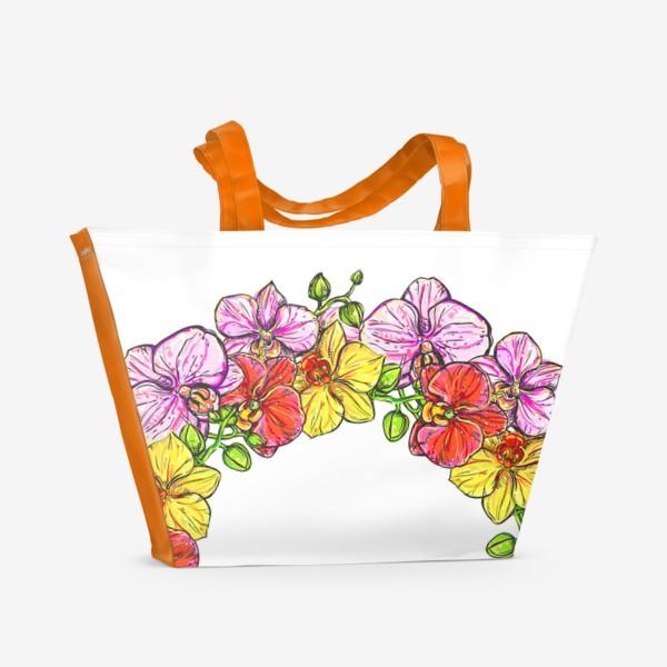 Пляжная сумка «венок орхидей»