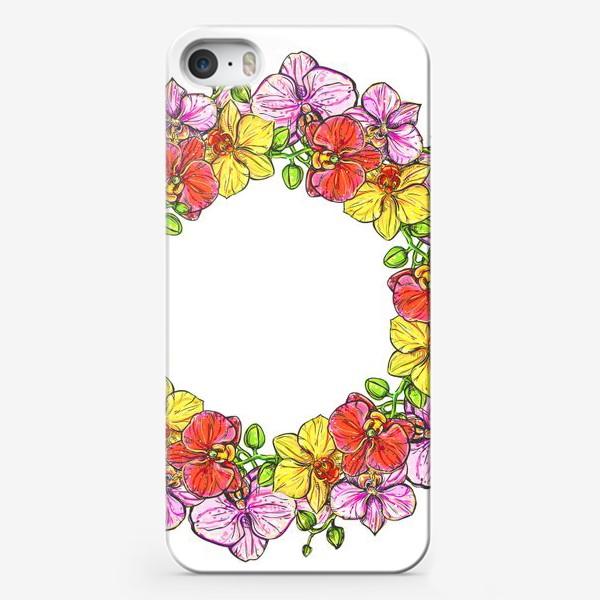 Чехол iPhone «венок орхидей»