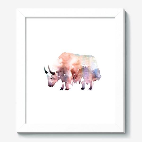 Картина «Тибетский бык. Акварельная серия животных»