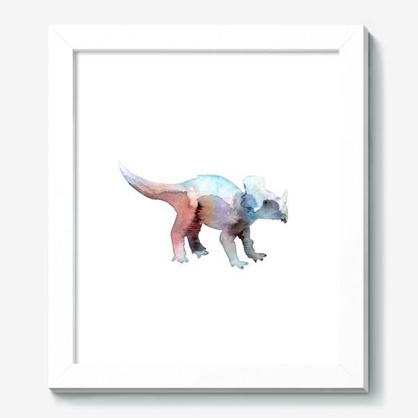 Картина «Динозаврик акварельный.»