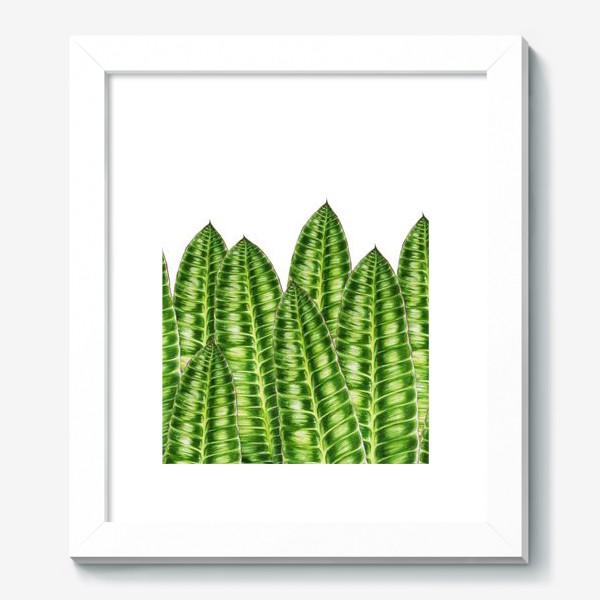 """Картина «Принт """"Зеленые листья"""".»"""