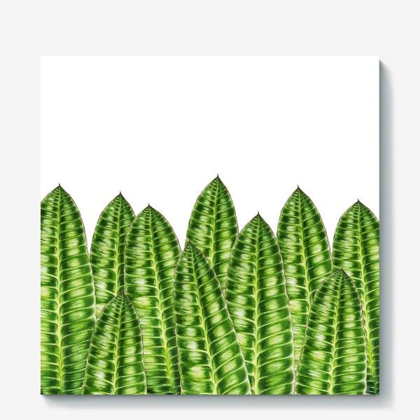 """Холст «Принт """"Зеленые листья"""".»"""