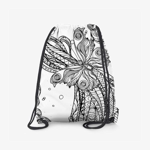 Рюкзак «бабочка и волны»