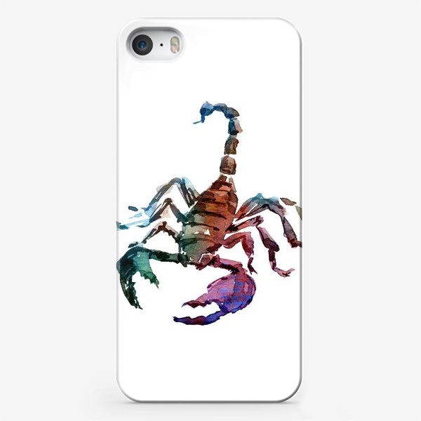 Чехол iPhone «Опасный скорпион. Акварельная серия животных.»