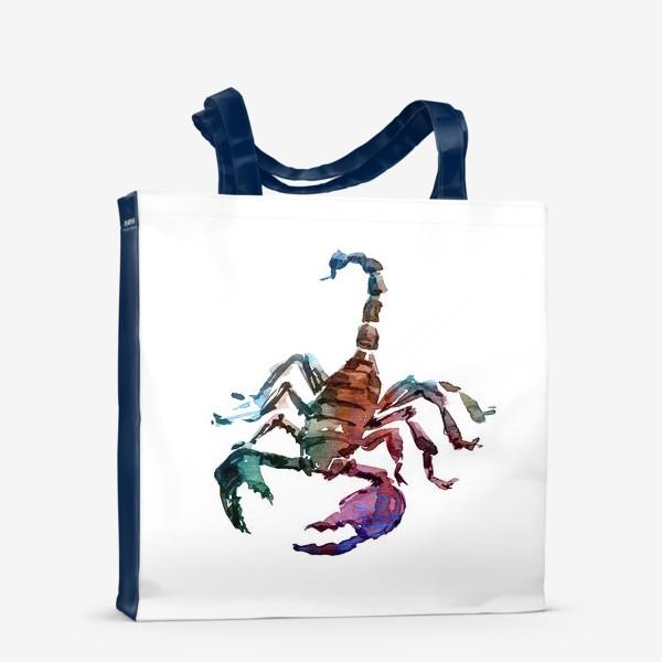 Сумка-шоппер «Опасный скорпион. Акварельная серия животных.»