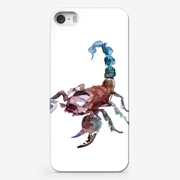 Чехол iPhone «Скорпион. Акварельная серия животных.»