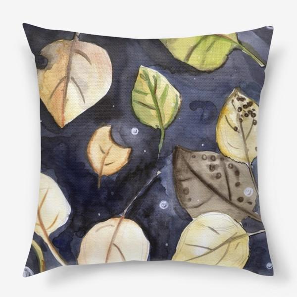 Подушка «Листья на воде»