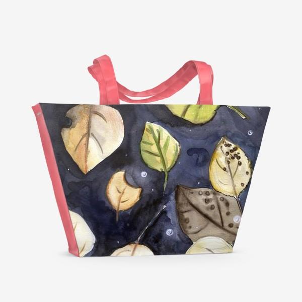 Пляжная сумка «Листья на воде»