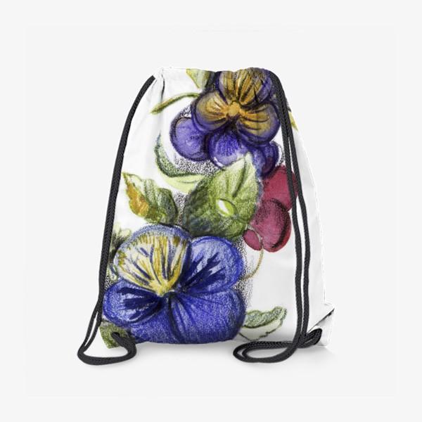 Рюкзак «Цветы анютины глазки»