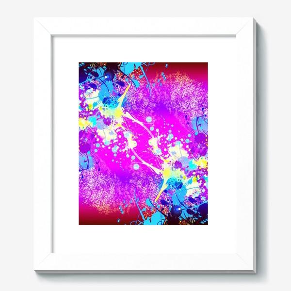 Картина «Пятна краски на розовом фоне»