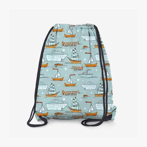 Рюкзак «Паттерн кораблики»
