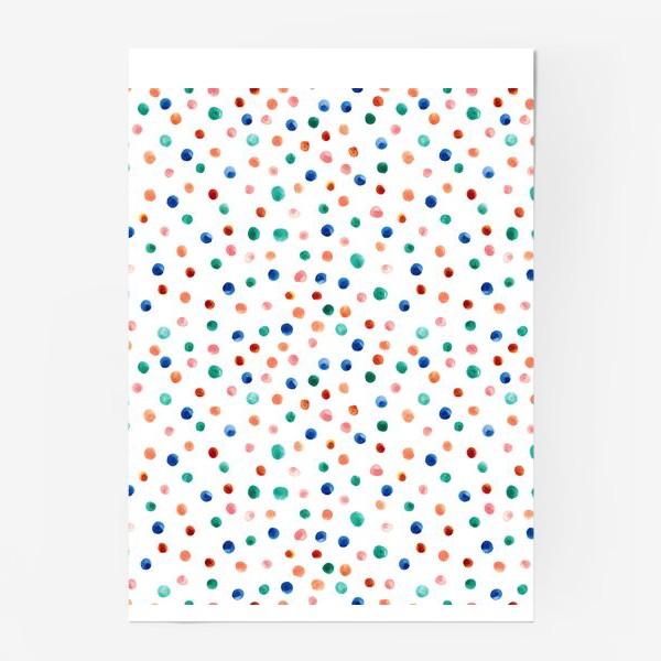 Постер «Паттерн с акварельными точками»