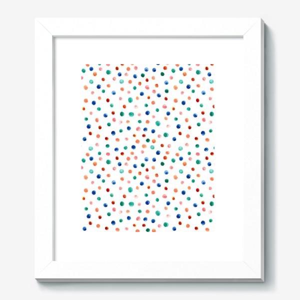 Картина «Паттерн с акварельными точками»