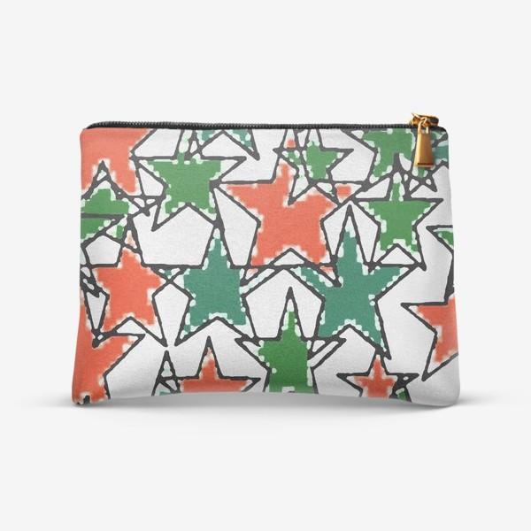 Косметичка «звезды зеленые»