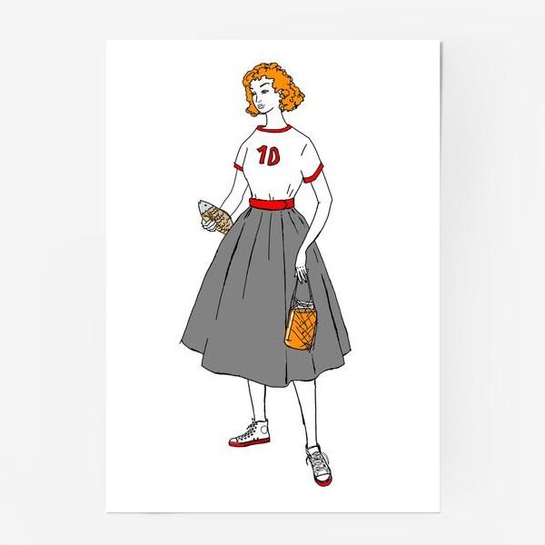 Постер «девушка с пивом»