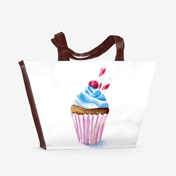 Пляжная сумка «Пироженое или капкейк»
