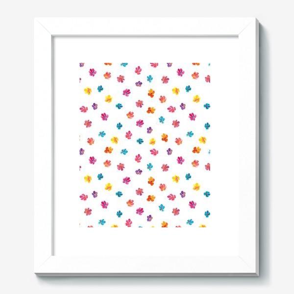 Картина «Паттерн с акварельными цветами»
