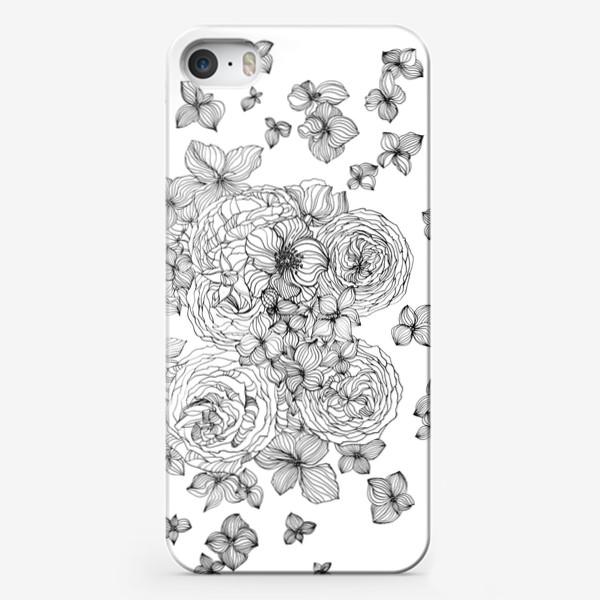 Чехол iPhone «Розы и гартензии»