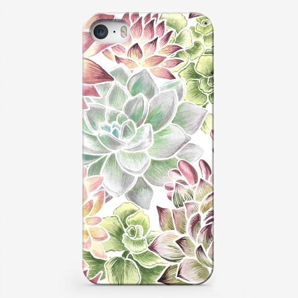 Чехол iPhone «Разноцветные суккуленты»