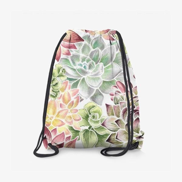 Рюкзак «Разноцветные суккуленты»