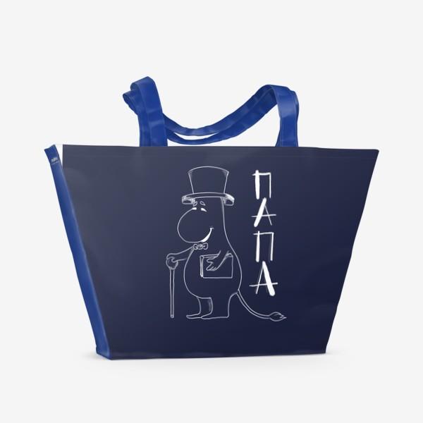 Пляжная сумка «Муми папа»