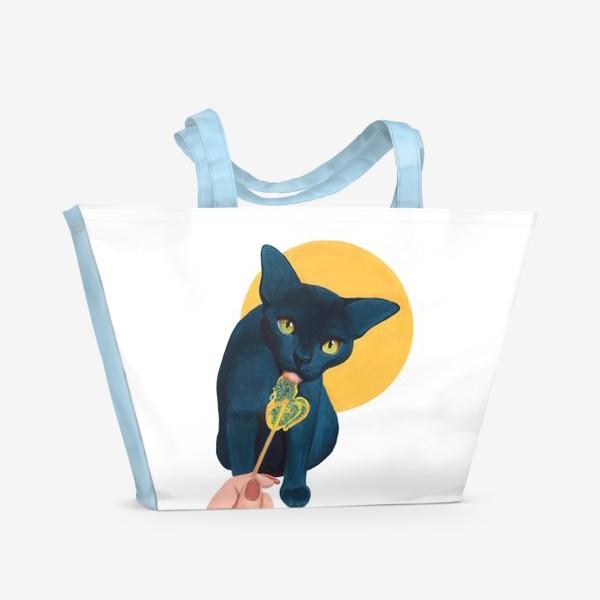 Пляжная сумка «Кот с леденцом»