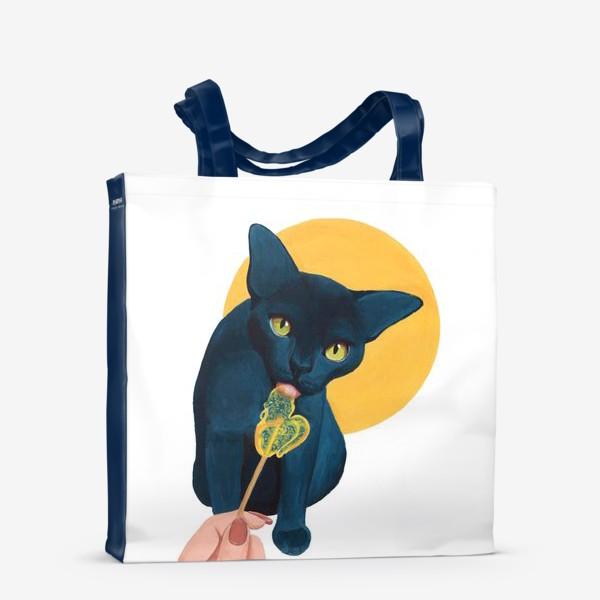 Сумка-шоппер «Кот с леденцом»