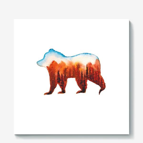 Холст «Медведь сибирский»
