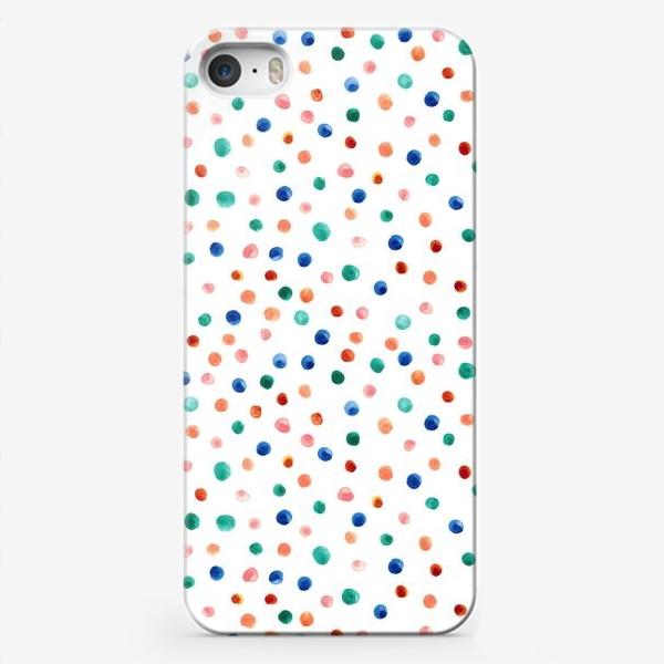 Чехол iPhone «Паттерн с акварельными точками»