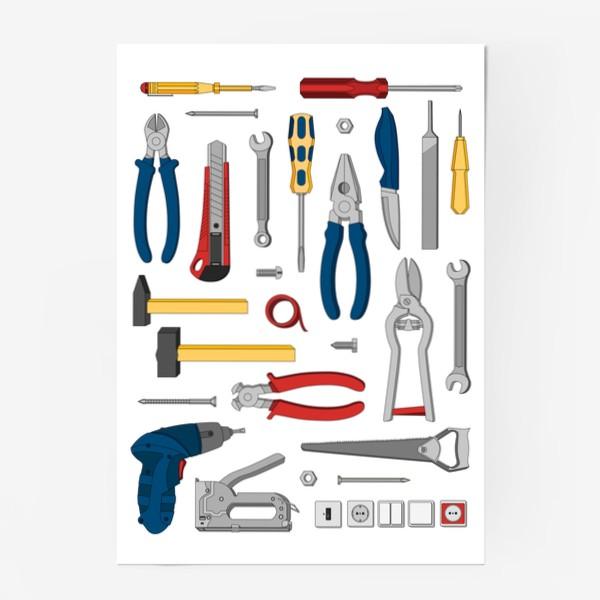Постер «Набор настоящего мужчины. Инструменты»