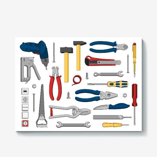 Холст «Набор настоящего мужчины. Инструменты»