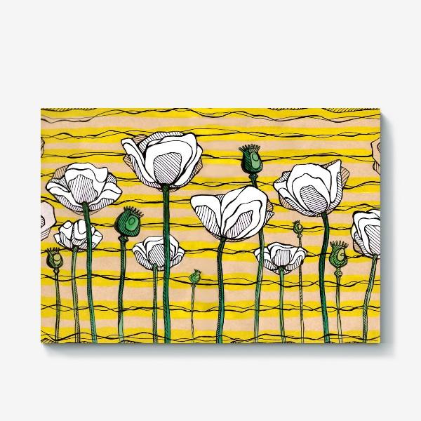 Холст «Белые цветы»
