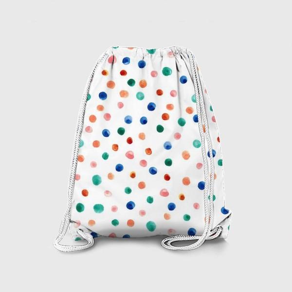 Рюкзак «Паттерн с акварельными точками»