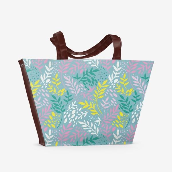 Пляжная сумка «Весенние веточки»