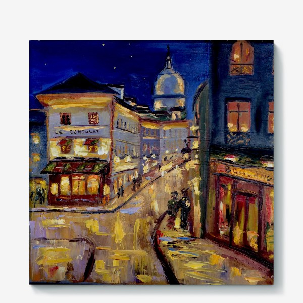 Холст «Ночной Париж»