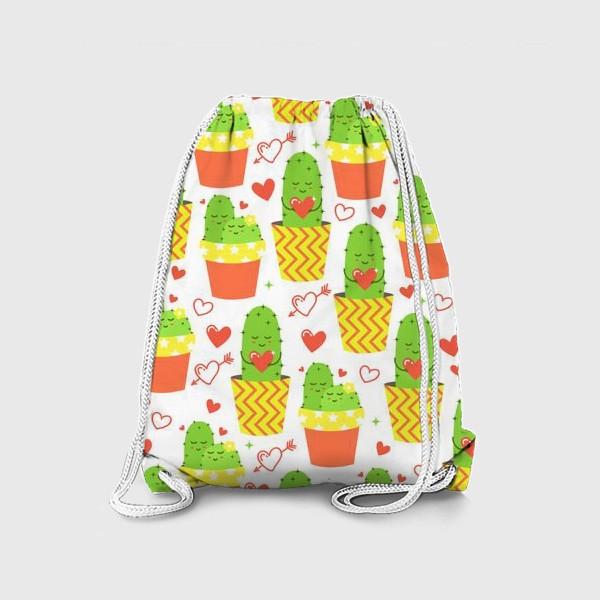 Рюкзак «Влюбленные кактусы»