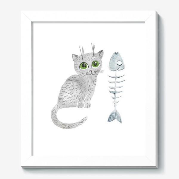Картина «Милый серый котенок»