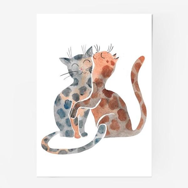 Постер «Влюбленные коты»