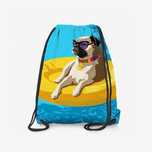 Рюкзак «Мопс в бассейне»
