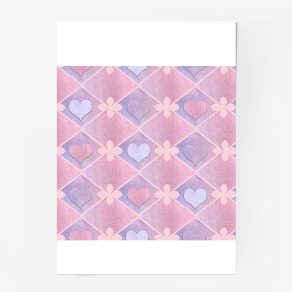 Постер «Розовый винтаж»
