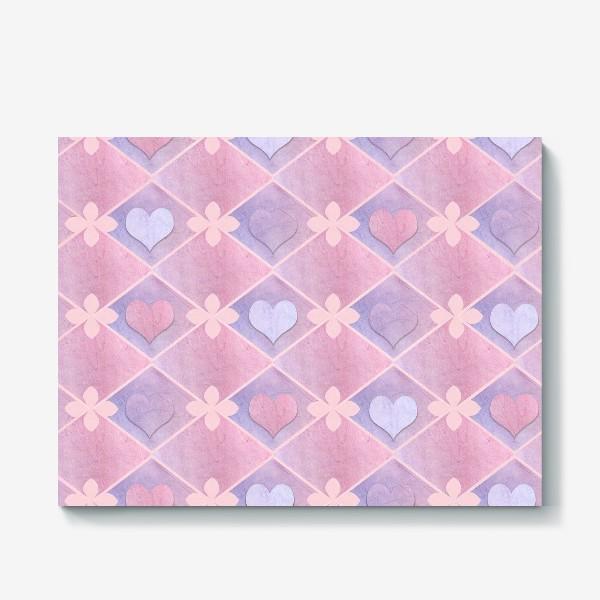 Холст «Розовый винтаж»