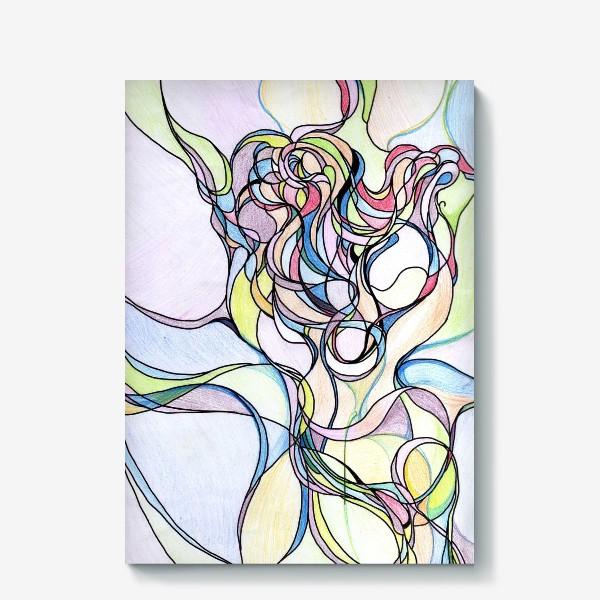 Холст «Разноцветная абстракция »