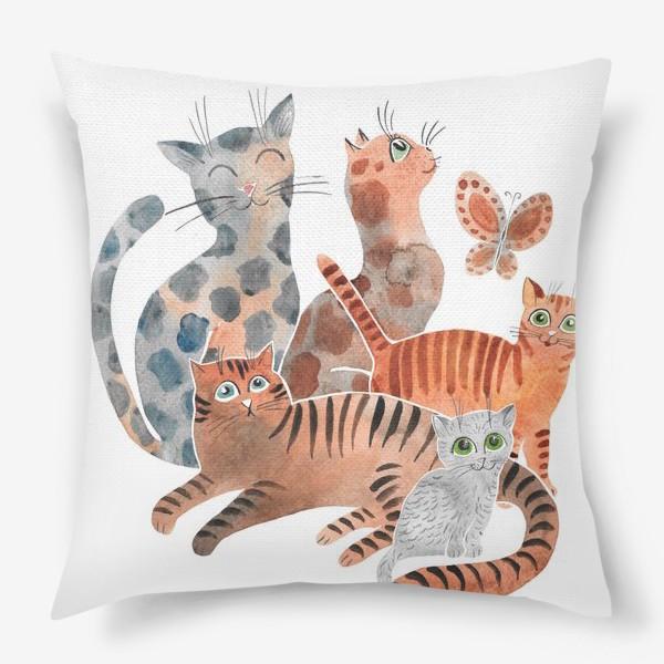 Подушка «Милейшие коты»