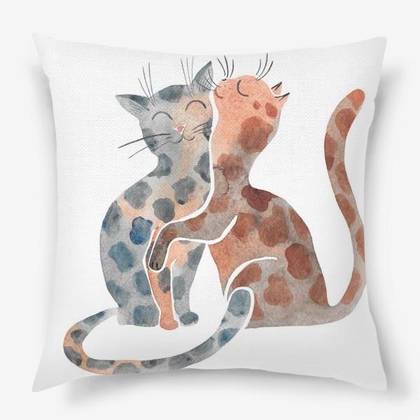 Подушка «Влюбленные коты»