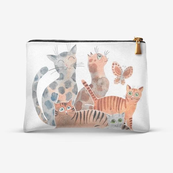 Косметичка «Милейшие коты»