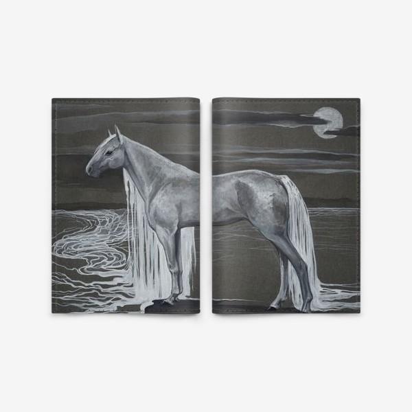 Обложка для паспорта «Белая лошадь»