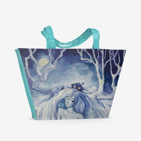 Пляжная сумка «Снежная ночь»