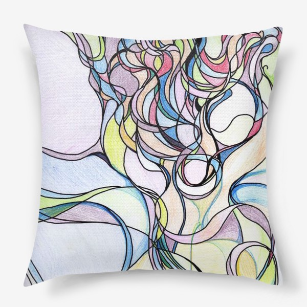 Подушка «Разноцветная абстракция »