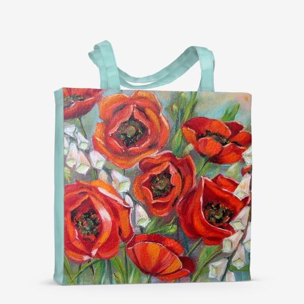 Сумка-шоппер «Красные маки»